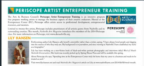 Nashville Arts Magazine Mini-Feature