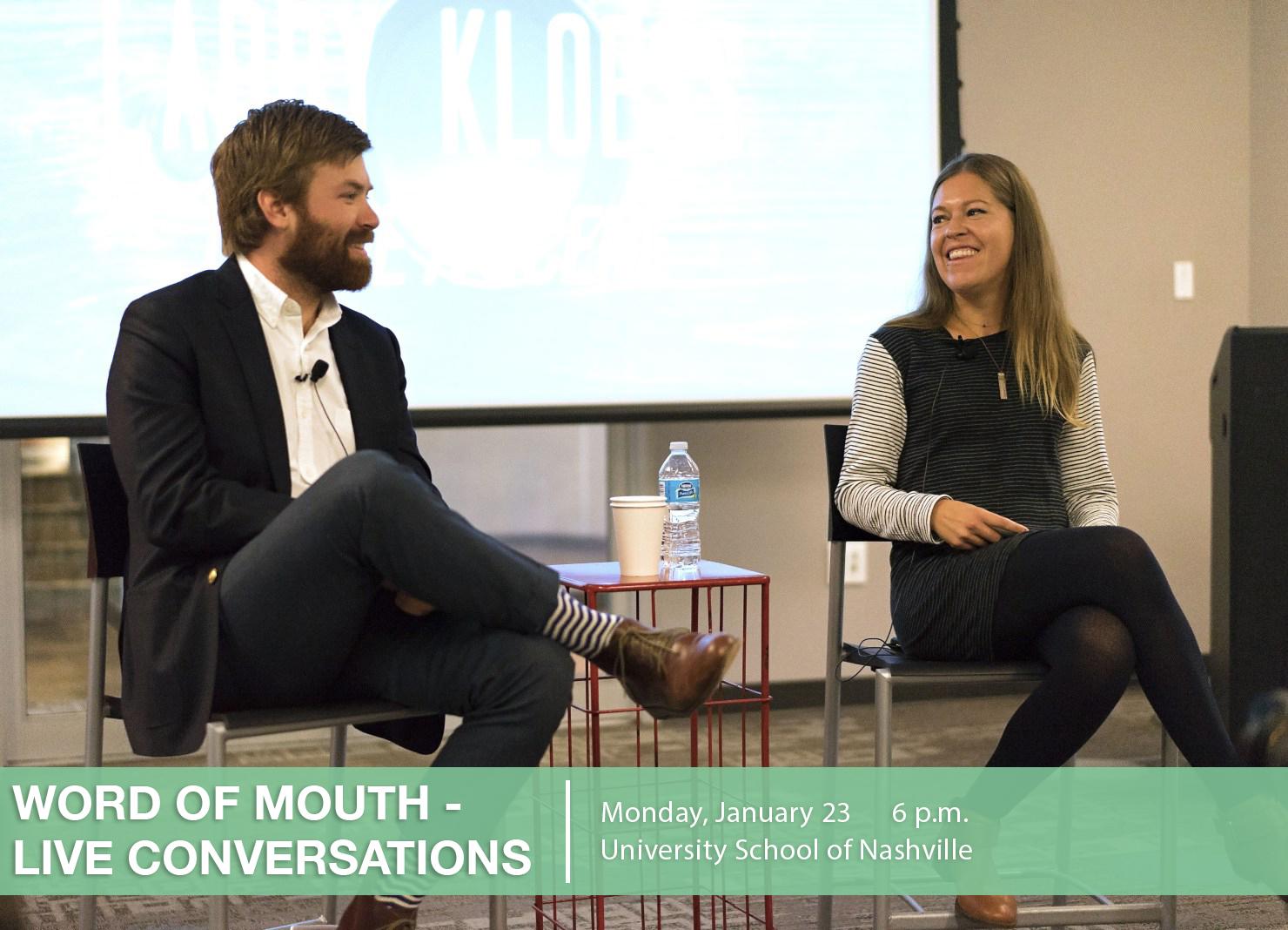 Live Conversation at the University School of Nashville